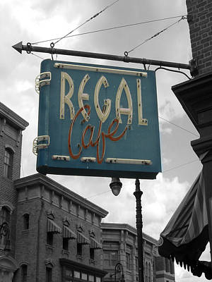 Regal Cafe Art Print by Audrey Venute