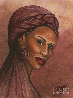 Regal Lady In Plum Art Print
