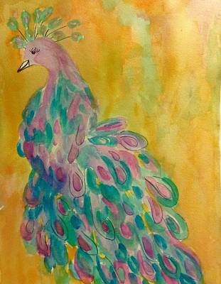 Painting - Regal Peacock by Ellen Levinson