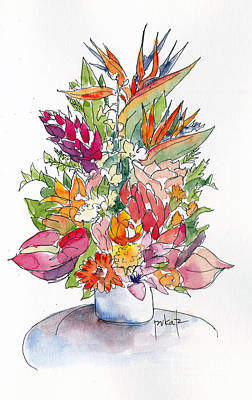 Painting - Regal Princess Bouquet by Pat Katz