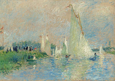 Painting - Regatta At Argenteuil by Auguste Renoir