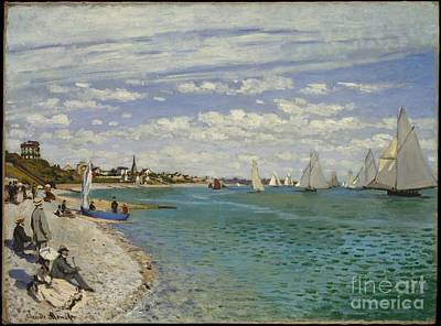 Food And Beverage Painting - Regatta At Sainte-adresse by Celestial Images
