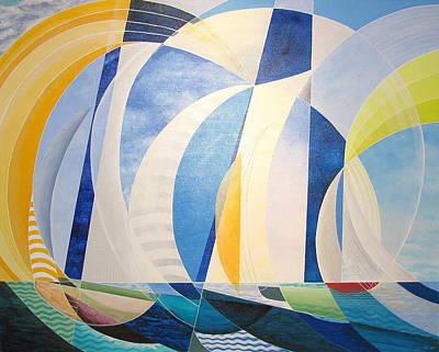 Painting - Regatta by Douglas Pike