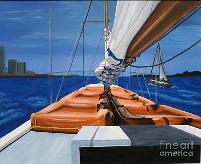 Painting - Regatta by JoAnn DePolo