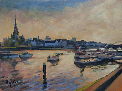 Painting - Regatta Maastricht by Nop Briex
