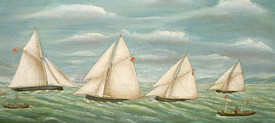 Regatta Off The Long Sand Lightship Art Print by Unknown