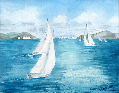 Painting - Regatta Time by Diane Kirk