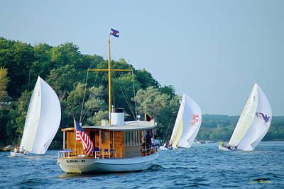 Regatta Watcher - Lake Geneva Wisconsin Art Print