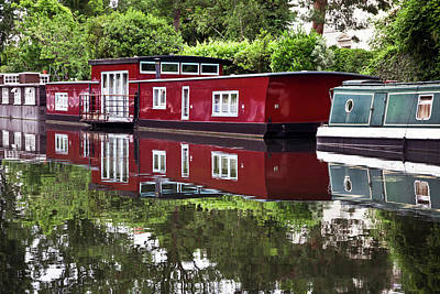 Art Print featuring the photograph Regent Houseboats by Keith Armstrong