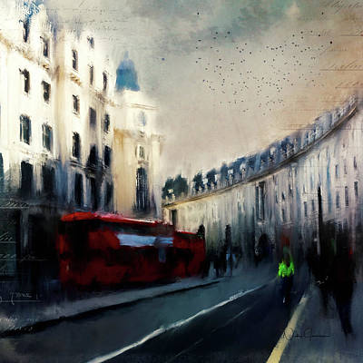Digital Art - Regent Street by Nicky Jameson