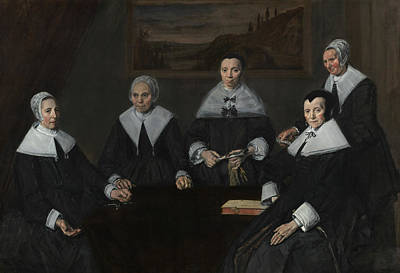 Painting - Regentesses Of The Old Men's Alms House by Frans Hals