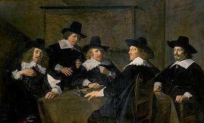 Painting - Regents Of The St. Elisabeth's Hospital, Haarlem by Frans Hals