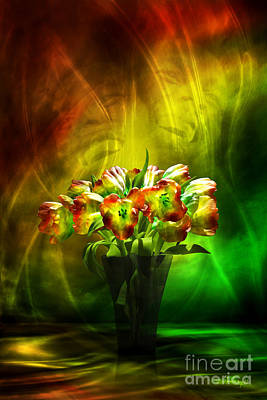 Digital Art - Reggae Tulips by Johnny Hildingsson