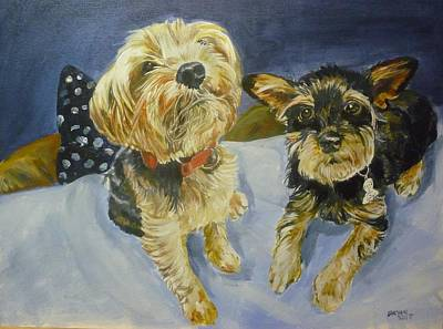 Painting - Reggie And Jazzy by Bryan Bustard