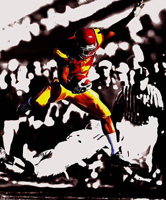Reggie Bush Taking Flight Art Print