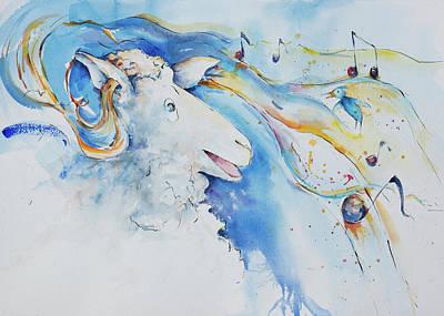 Reggie Painting - Reggie Hears Sleigh Bells by Adam VanHouten