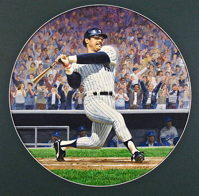 Ny Yankees Mixed Media - Reggie Jackson by Cliff Spohn