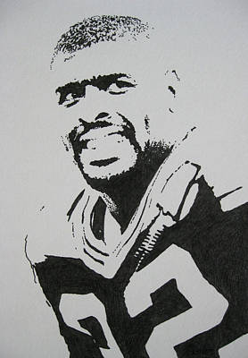 Football Drawing - Reggie by Lynet McDonald