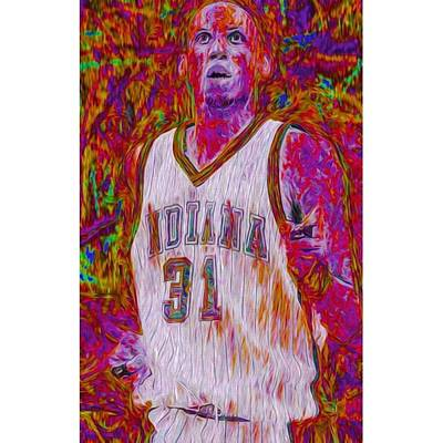 Fineartamerica Wall Art - Photograph - Reggie Miller. Ucla. Indiana Pacers by David Haskett II