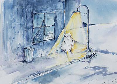Reggie Painting - Reggie Misses Home by Adam VanHouten