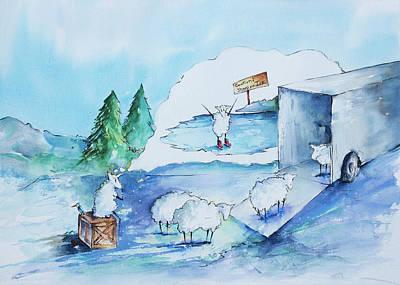 Reggie Painting - Reggie Wonders by Adam VanHouten