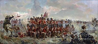 Regiment At Quatre Bras Art Print