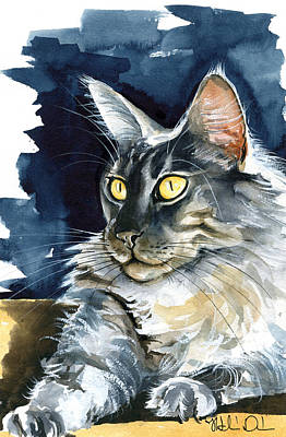 Painting - Regina - Maine Coon Painting by Dora Hathazi Mendes