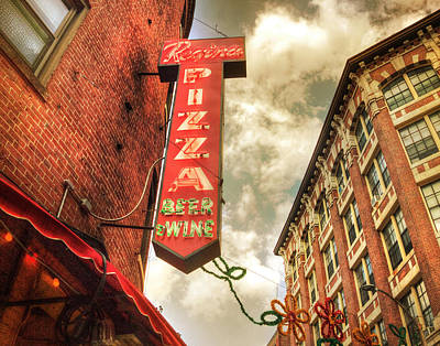 Photograph - Regina Pizza 11x14 by Joann Vitali