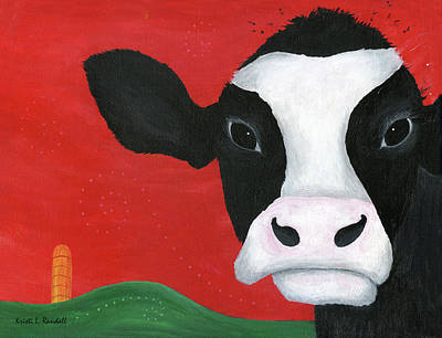 Painting - Regina The Happy Cow by Kristi L Randall