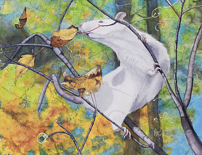 Sniffing Painting - Tree Tango by Marie Stone Van Vuuren