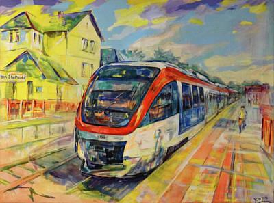 Painting - Regiobahn Mettmann by Koro Arandia