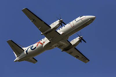 Photograph - Regional Express Saab 340 by John Daly