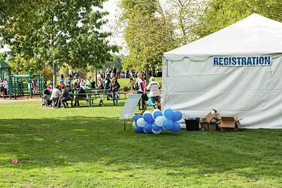 Photograph - Registration Tent At Riverfront Park by Tom Cochran