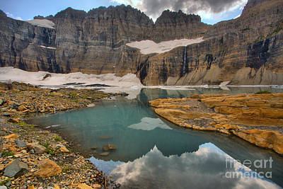 Photograph - Reglections In The Grinnell Cirque by Adam Jewell