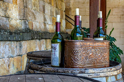 Regusci Winery Art Print by Bill Gallagher