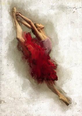 Ballerinas Digital Art - Rehearsing Carmen by H James Hoff