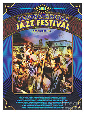 Digital Art - Rehoboth Beach Jazz Fest 2015 by Mike Massengale