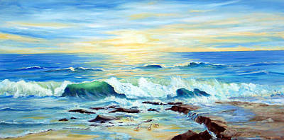 Painting - Rehoboth Beach Surf by Ronald Lightcap