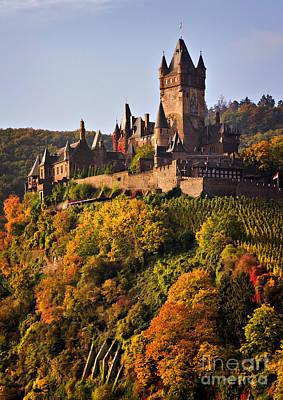 Autumn Photograph - Reichsburg Castle by Louise Heusinkveld