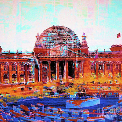Berlin Mixed Media - Reichstag And Parliament by Nica Art Studio