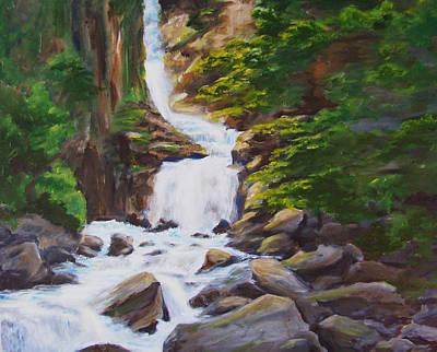 Painting - Reid Falls by Ronald Lightcap