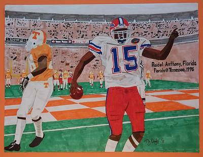 Florida - Tennessee Football Art Print