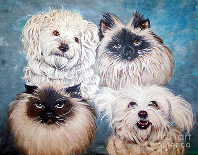 Reigning Cats N Dogs Art Print