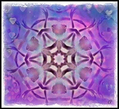 Reiki Infused Healing Hands Mandala Art Print