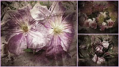 Photograph - Vintage Pink Flower Collage by Dorothy Berry-Lound