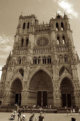 Photograph - Amiens Cathedral In Sepia by Eric Tressler