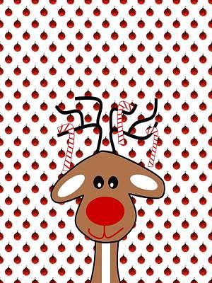 Digital Art - Reindeer Christmas by Kathleen Sartoris