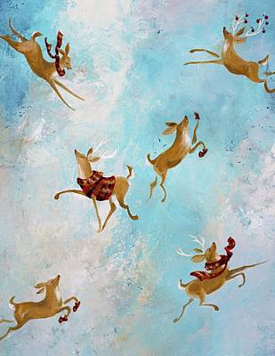 Painting - Reindeer Games by Dina Dargo