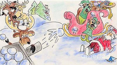 Pastel - Reindeer Games by Vonda Lawson-Rosa