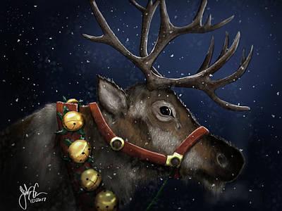Digital Art - Reindeer by Jonathan Carr